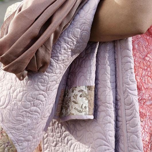 Верхняя одежда ручной работы. Ярмарка Мастеров - ручная работа. Купить Стеганое пальто.. Handmade. Комбинированный, пальто двустороннее