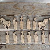 Сувениры и подарки handmade. Livemaster - original item Chess figures for coloring. Handmade.
