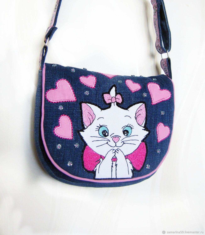 Bag for girls denim shoulder, Bags for children, Gelendzhik,  Фото №1
