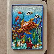 Канцелярские товары handmade. Livemaster - original item Notepad Sea Turtle handmade.Notepad from scratch. Handmade.