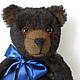 bear with blue bow. Stuffed Toys. Vershybears (vershybears). Online shopping on My Livemaster.  Фото №2