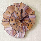 """Для дома и интерьера ручной работы. Ярмарка Мастеров - ручная работа Часы """"Наутилус"""" тиффани. Handmade."""