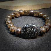 Украшения handmade. Livemaster - original item Bracelet made of nuumite and bronzite. Handmade.