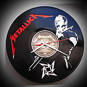 Для дома и интерьера handmade. Livemaster - original item Wall clock Metallica. Handmade.