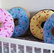 Для дома и интерьера handmade. Livemaster - original item Donut pillow, pillow toy. Handmade.