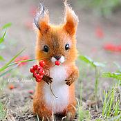 Куклы и игрушки handmade. Livemaster - original item Felted toy squirrel Anfisa. Handmade.