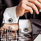 Фен-шуй и эзотерика handmade. Livemaster - original item Cufflinks Oscar. Color Jet. jewelry for men. Men`s cufflinks. Handmade.