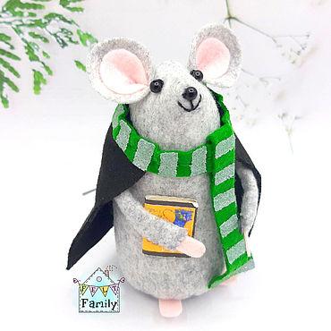"""Сувениры и подарки ручной работы. Ярмарка Мастеров - ручная работа Мышка """"Драко Малфой"""" - символ 2020 года. Мышка из фетра. Handmade."""