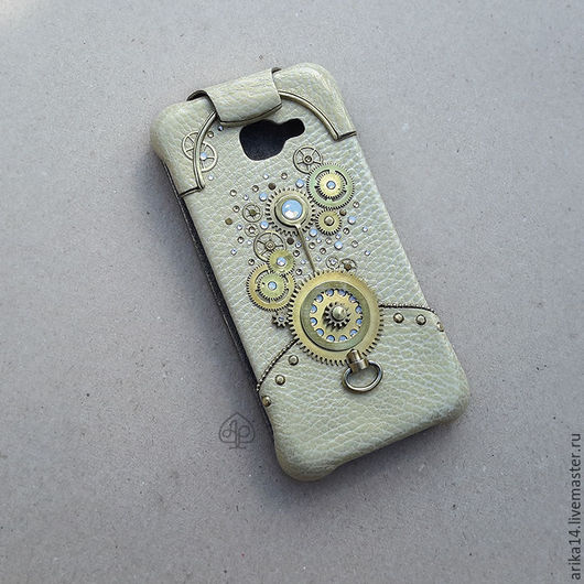 Для телефонов ручной работы. Ярмарка Мастеров - ручная работа. Купить чехол для телефона в стиле clockworkpunk. Handmade. Золотой