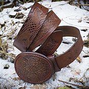 Ремни ручной работы. Ярмарка Мастеров - ручная работа Мужской ремень со змеями. Handmade.