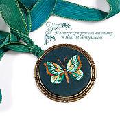 Украшения handmade. Livemaster - original item Embroidered pendant Emerald. Handmade.