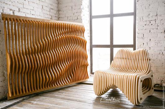 Мебель ручной работы. Ярмарка Мастеров - ручная работа. Купить параметрическое панно. Handmade. Комбинированный, перегородка