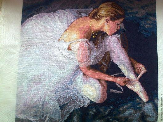 Люди, ручной работы. Ярмарка Мастеров - ручная работа. Купить Прекрасная балерина.. Handmade. Комбинированный, вышивка, Вышитая картина