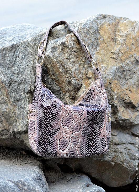 Женские сумки ручной работы. Ярмарка Мастеров - ручная работа. Купить сумка из кожи питона 05. Handmade. Комбинированный