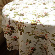 """Для дома и интерьера ручной работы. Ярмарка Мастеров - ручная работа Скатерть """"Яблоневый цвет"""" на белом. Handmade."""