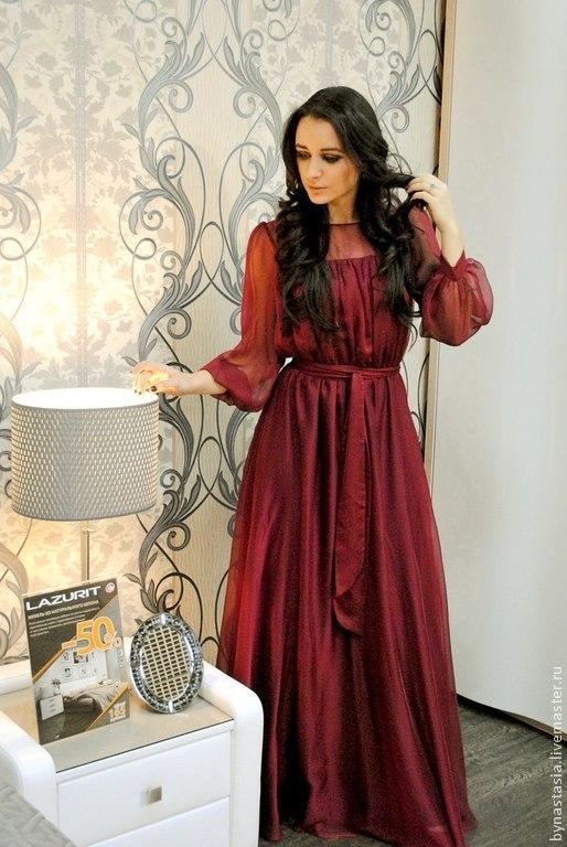 """Платья ручной работы. Ярмарка Мастеров - ручная работа. Купить Платье """"Джаконда"""". Handmade. Бордовый, нарядное платье, платье длинное"""
