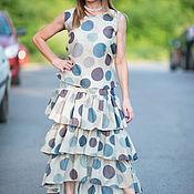 Одежда handmade. Livemaster - original item Women`s suit, Skirt, polka dot Skirt, Blouse, Summer blouse. Handmade.