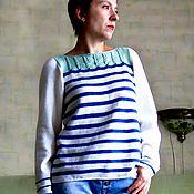 Одежда ручной работы. Ярмарка Мастеров - ручная работа Морская. Handmade.