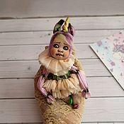 Куклы и пупсы ручной работы. Ярмарка Мастеров - ручная работа Единорожка Ия. Карманная игрушка.. Handmade.