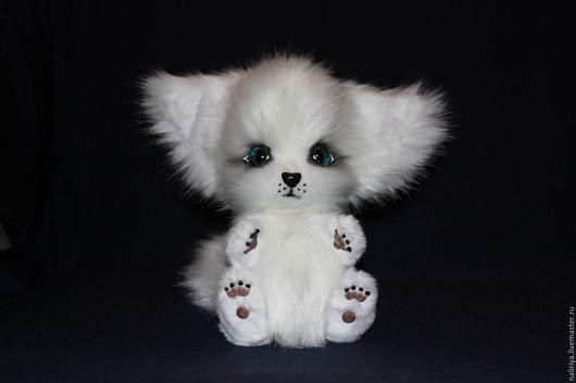 Игрушки животные, ручной работы. Ярмарка Мастеров - ручная работа. Купить Белая лисичка фенек. Handmade. Плюшевая игрушка