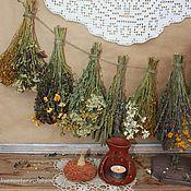 Для дома и интерьера ручной работы. Ярмарка Мастеров - ручная работа Подвеска из трав в деревенском стиле. Handmade.