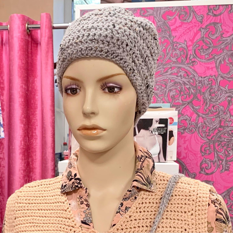 Вязаная шапка в комплекте с сумочкой- чехлом для телефона, Шапки, Дубна,  Фото №1