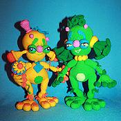 Куклы и игрушки handmade. Livemaster - original item Inoplanetyashki, ALOU and GREEN. UFO. Handmade.