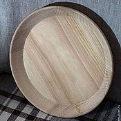 Для дома и интерьера ручной работы. Ярмарка Мастеров - ручная работа Тарелка из кедра большая (блюдо). Handmade.