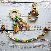 Куклы и игрушки handmade. Livemaster - original item Nominal set of juniper (holder, rodent, rattle). Handmade.