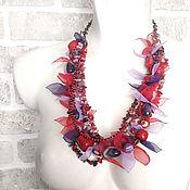 Украшения handmade. Livemaster - original item choker transformer. Red coral and purple amethyst. Handmade.