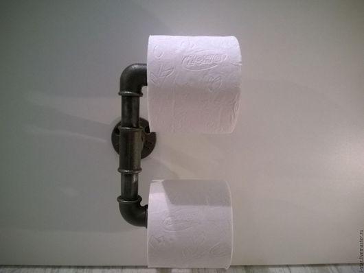 Ванная комната ручной работы. Ярмарка Мастеров - ручная работа. Купить Держатель для туалетной бумаги лофт настенный. Handmade. Серый