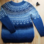 Одежда handmade. Livemaster - original item Knitted sweater Thaw, hand knitted. Handmade.
