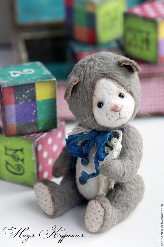 Мишки Тедди ручной работы. Ярмарка Мастеров - ручная работа. Купить Тедди котенок. Handmade. Серый, котенок, теддик