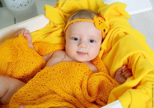 Пледы и одеяла ручной работы. Ярмарка Мастеров - ручная работа. Купить Пледик для фотосессии новорожденного + повязка на голову. Handmade.