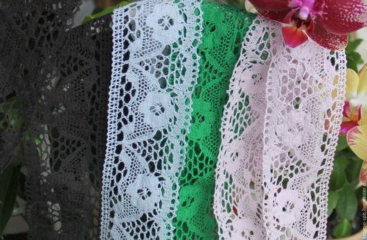 Хлопковое кружево  Кружево №73Цвет-темно коричневый(практически черный) Кружево №448Цвет-Нежно-Голубой Кружево №447Цвет-Зеленый Кружево №75Цвет-Бледно-Розовый Ширина-55мм (+- 1)  Цена-65р 100%Х