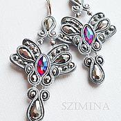 Украшения handmade. Livemaster - original item Soutache earrings Dolcini Snow. Handmade.