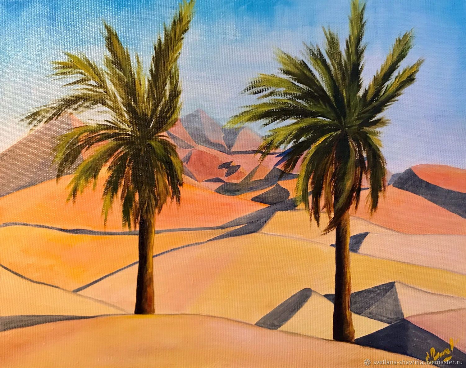 DUNES, UAE, oil on canvas, 50h40, modern, Pictures, Moscow,  Фото №1