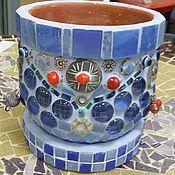"""Для дома и интерьера ручной работы. Ярмарка Мастеров - ручная работа Вазончик для цветов """"Восточный базар"""", мозаика. Handmade."""