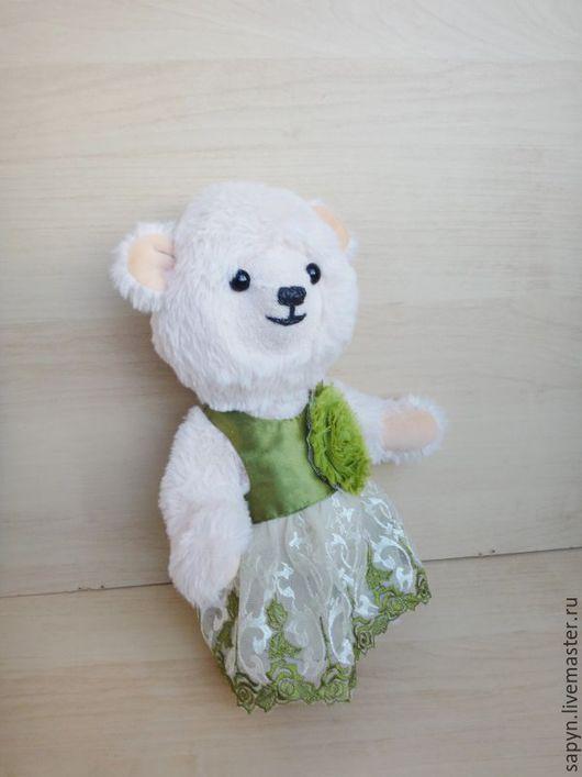 Мишки Тедди ручной работы. Ярмарка Мастеров - ручная работа. Купить Агаша. Handmade. Бежевый, подарок, атласная ткань