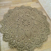 Для дома и интерьера ручной работы. Ярмарка Мастеров - ручная работа коврик вязаный. Handmade.