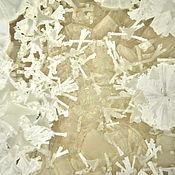 "Посуда handmade. Livemaster - original item Porcelain plate ""White crystal"". Handmade."