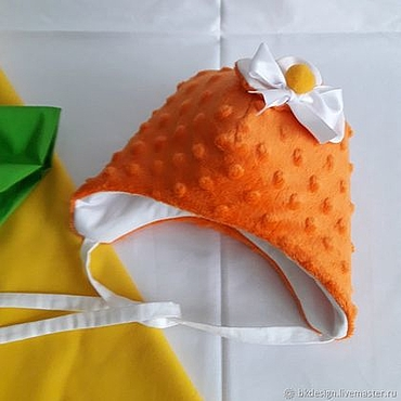 Clothing handmade. Livemaster - original item Plush hat Minky. (Orange). Handmade.