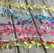 Материалы для творчества ручной работы. Ярмарка Мастеров - ручная работа Лента с листочками-8 оттенков. Handmade.