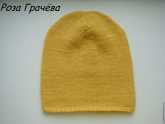 Шапки и шарфы ручной работы. Ярмарка Мастеров - ручная работа. Купить Шапка весенняя, желтая шапка. Handmade. Желтый