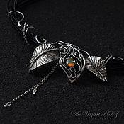Украшения handmade. Livemaster - original item Necklace with opal silver Leaves. Handmade.