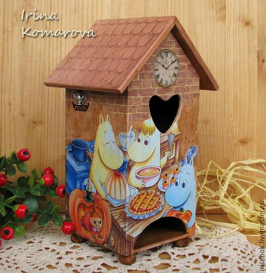 """Кухня ручной работы. Ярмарка Мастеров - ручная работа. Купить """"Муми-дом"""", чайный домик. Handmade. Разноцветный, подарок на новоселье"""