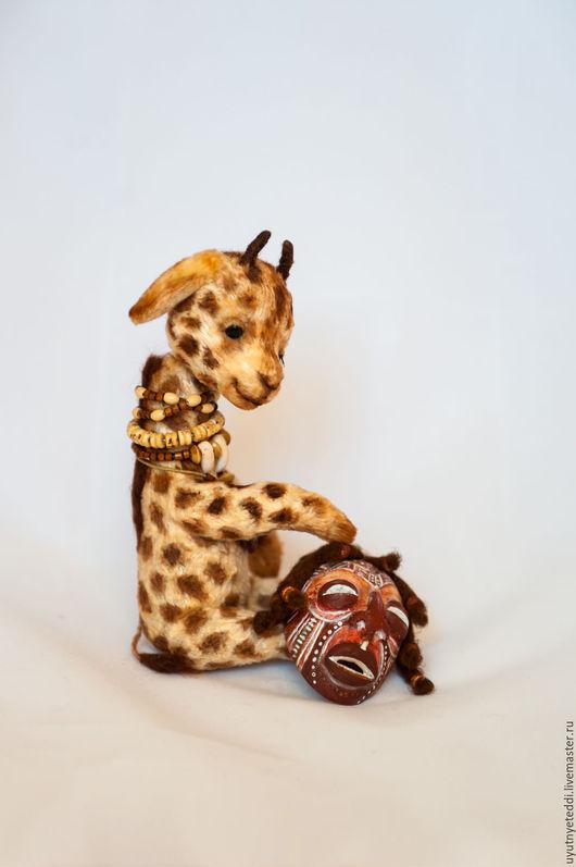 Мишки Тедди ручной работы. Ярмарка Мастеров - ручная работа. Купить Друг Тедди. Африка. Жирафик Камо.... Handmade. Бежевый