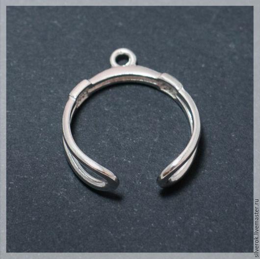 Для украшений ручной работы. Ярмарка Мастеров - ручная работа. Купить Основа для кольца с петлей регулируемая серебро 925 проба. Handmade.