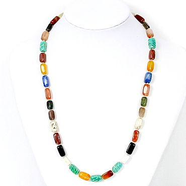 Decorations handmade. Livemaster - original item Beads made of natural stones (lapis lazuli, amazonite, carnelian ). Handmade.