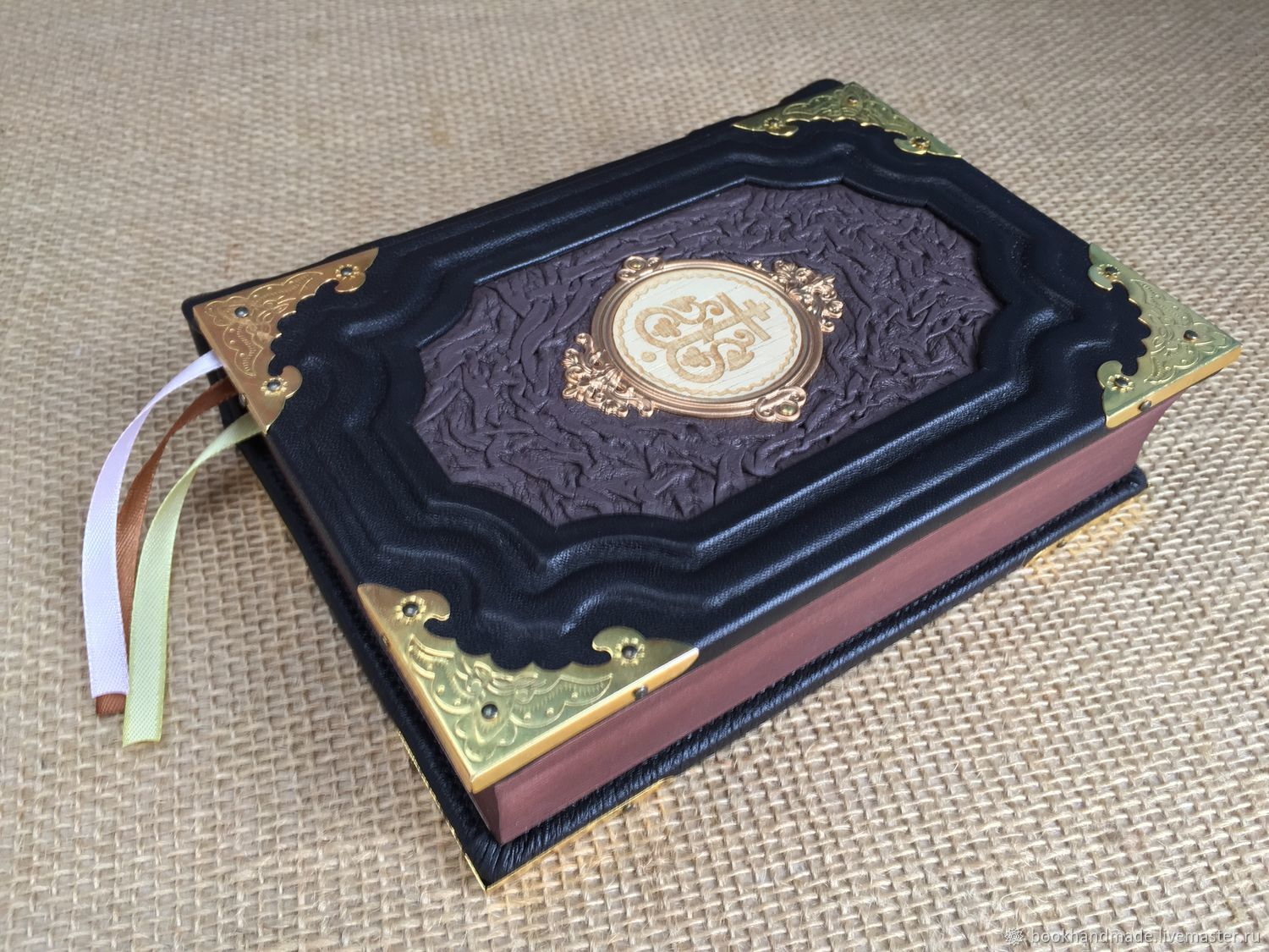 Orthodox prayer book in leather binding, Name souvenirs, Moscow,  Фото №1